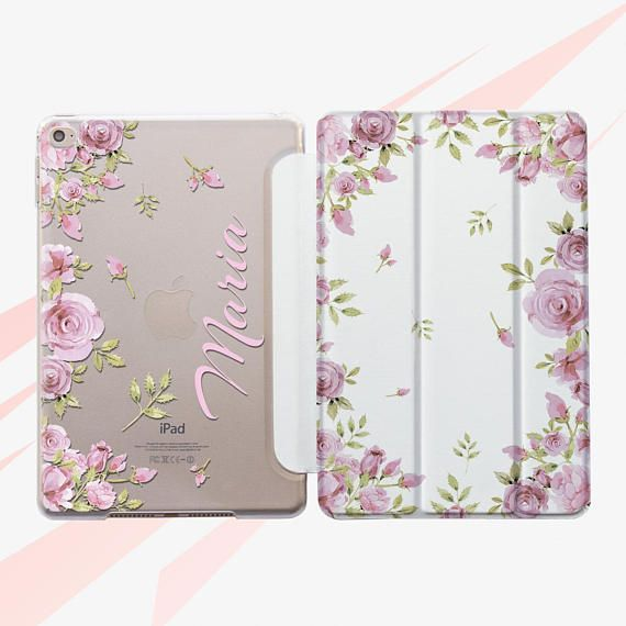 outlet store 106b8 b6dab Floral iPad 10.5 Case iPad Pro 12.9 Case iPad 2017 Case Personalized ...