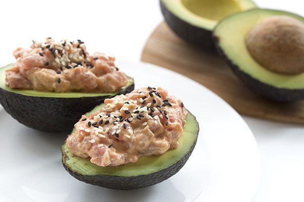 Low Carb Keto Spicy Tuna Stuffed Avocados | All Day I Dream About Food