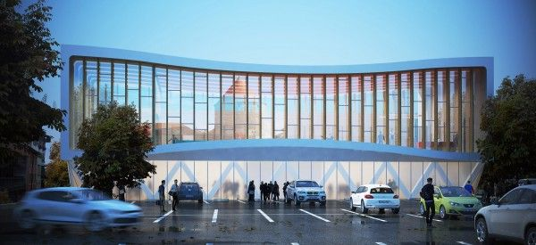 New Gymnasium at Yverdon-les-Bains: Juxtaposition of Contemporary and Historical Architecture
