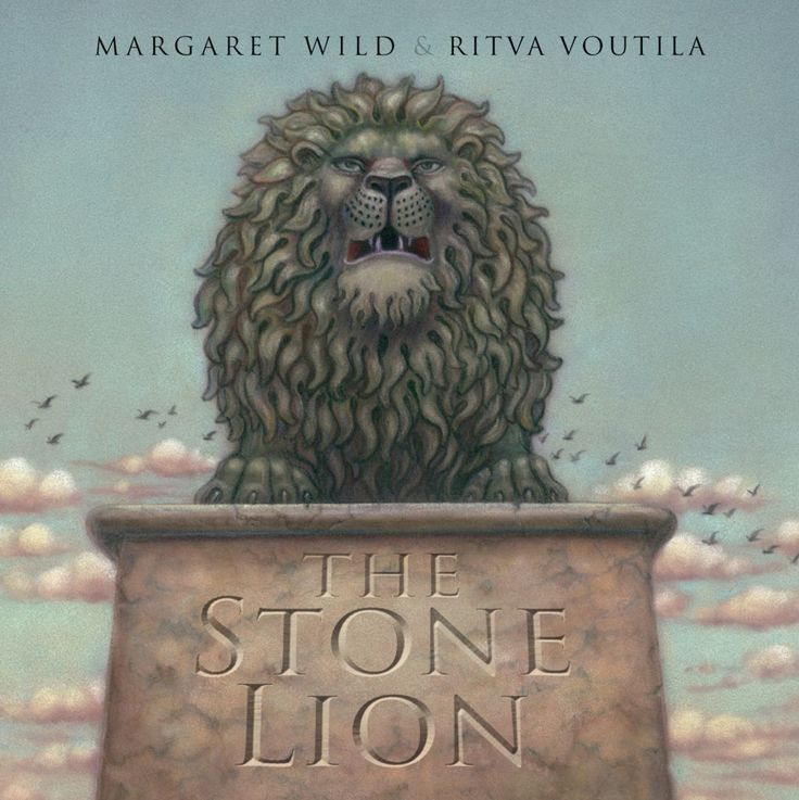 "The image ""The stone lion"" (The Children's Book Council of Australia, 2014)"