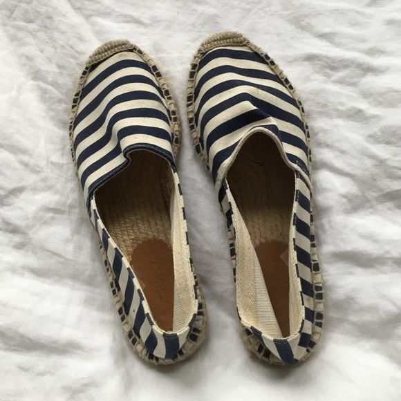 J. Crew • Striped Nautical Espadrilles Hardly worn, perfect for summer! J. Crew Shoes Espadrilles
