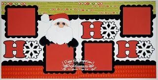 BLJ Graves Studio: HO HO HO Santa Christmas Scrapbook Page Kits #scrapbookkits