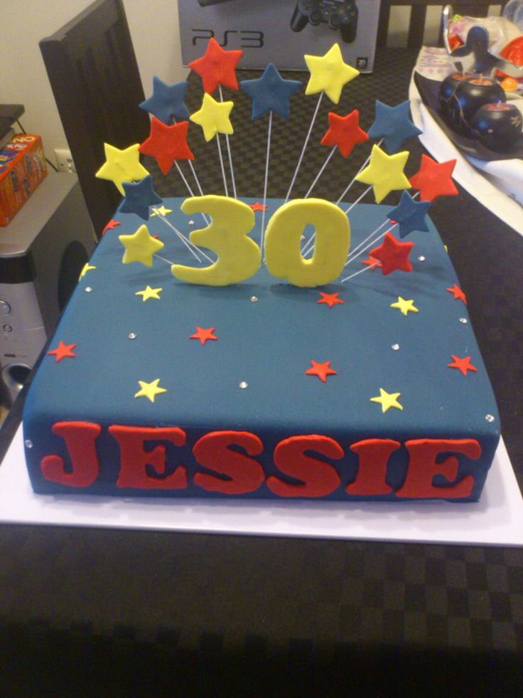 Adelaide Crows coloured 30th cake
