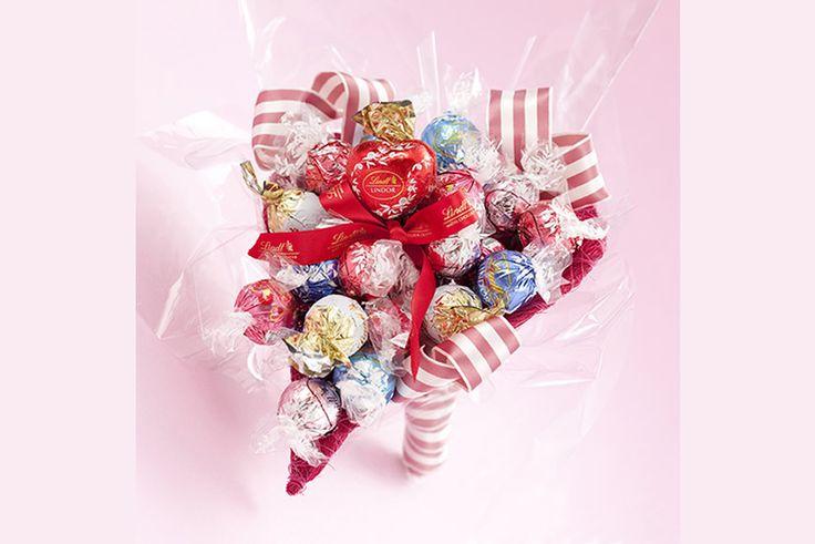 バレンタインに贈るリンツの手作りチョコレートブーケ #リンツ #リンドール #自由が丘 #チョコレートブーケ #バレンタイン #トラベルバリュー