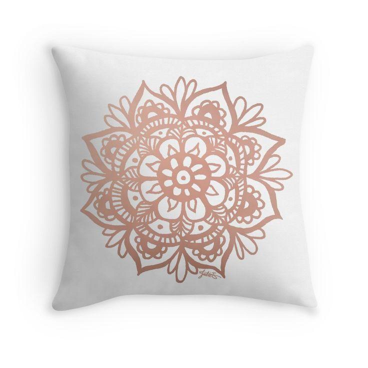 <b>Rose Gold</b> Mandala Throw Pillows