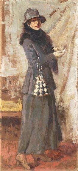 Vittorio Matteo Corcos, Altea Landi in Gioli's Atelier, Made of oil on board