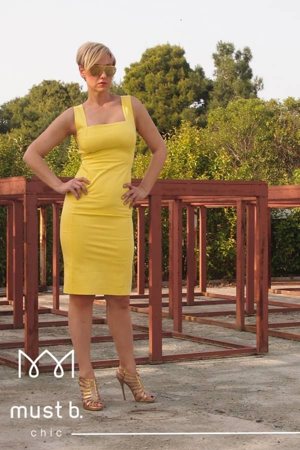 Fashionable yellow dress from Spring Summer Collection 2015