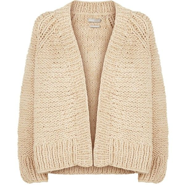 Vince Chunky Knit Cardigan (22.090 UYU) ❤ liked on Polyvore featuring tops 6a2ad3e2d