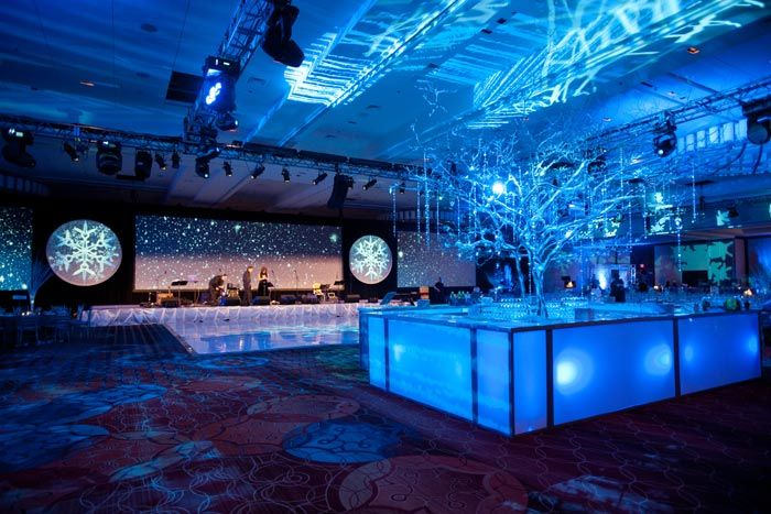 For a winter-themed corporate party, design director Andrew Zill of Baltimore-based Feats Inc. created a snowy scene that...