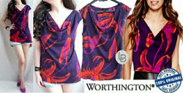 Jual Worthington Flaminggo Blouse hanya Rp 79.876, lihat gambar klik https://www.tokopedia.com/mamanya-zati/worthington-flaminggo-blouse     #worthington #flaminggo #blouse #colour #style #casual #bajumurah #branded