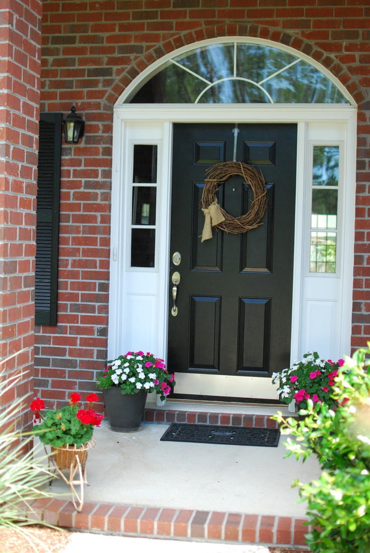 High Quality Plain Front Door Painted Black
