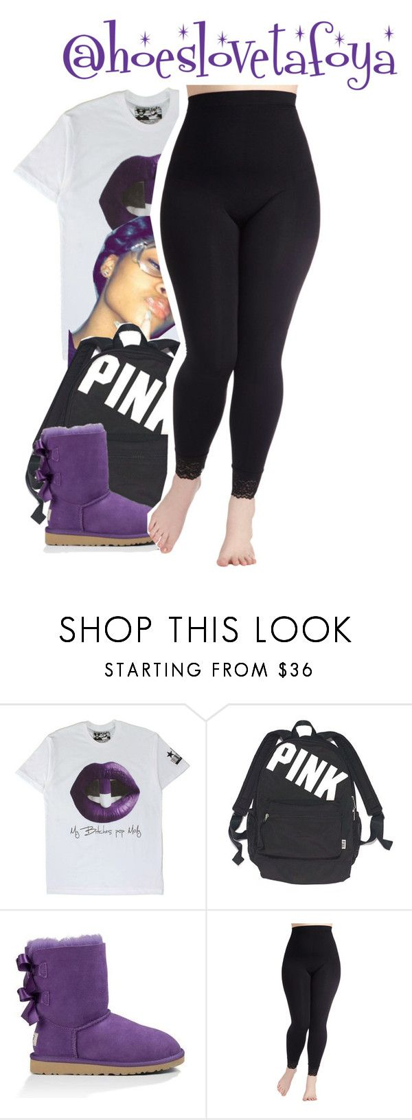 """Bts pt10"" by hoeslovetafoya ❤ liked on Polyvore featuring Victoria's Secret, UGG Australia and plus size clothing"