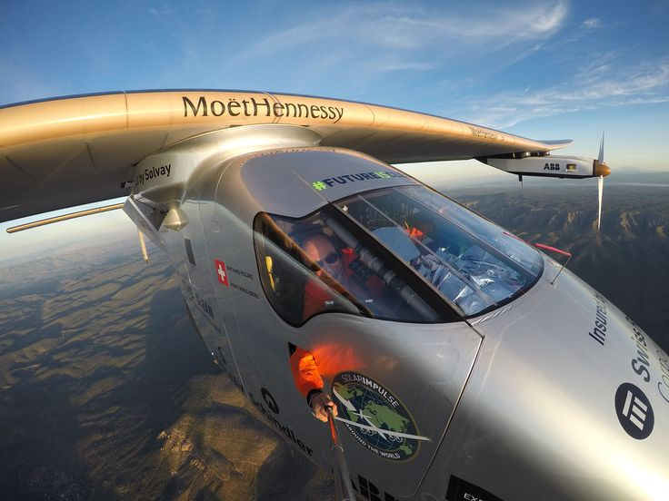 Selfie from a solar airplane by SOLAR IMPULSE on 500px