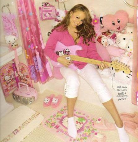 mariah carey instagram | Mariah Carey's Hello Kitty room