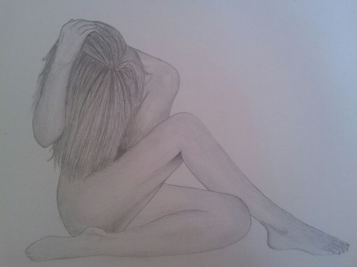 Naked female body pencil