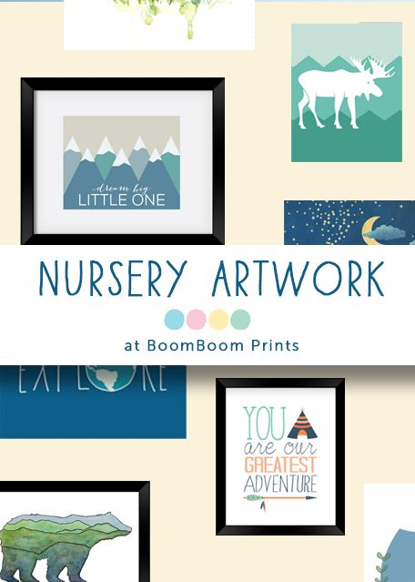 Nursery and family-friendly artwork design by independent artists! There's other products too like onesies and phone cases. Super cute!