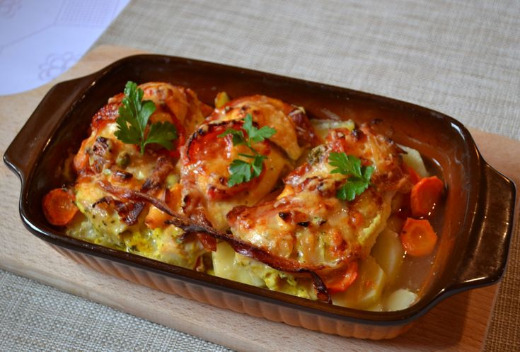 Csirkemell gazdagon vele sült zöldségekkel Recept képpel - Mindmegette.hu - Receptek