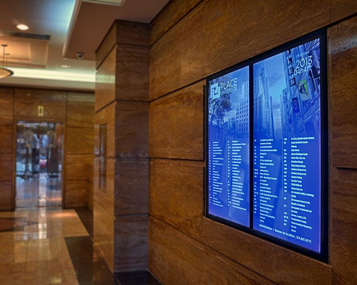Diffusion Directories – Digitial Directory Boards for Office Buildings – Residential buildings – Condo – Tenant name Signage – Digital Wayfinding –