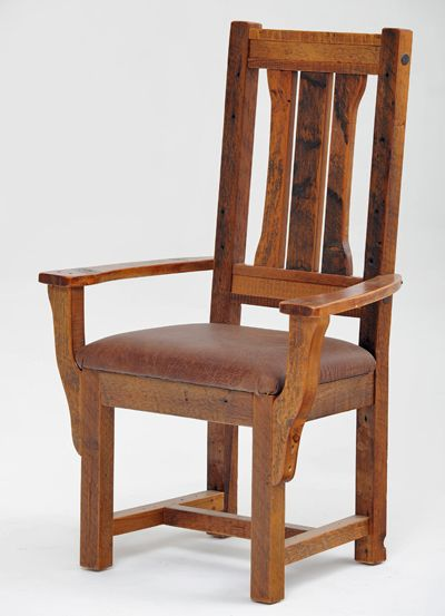 Rustic Dinette Chair, Barnwood Seating, Antique Wood Chairs