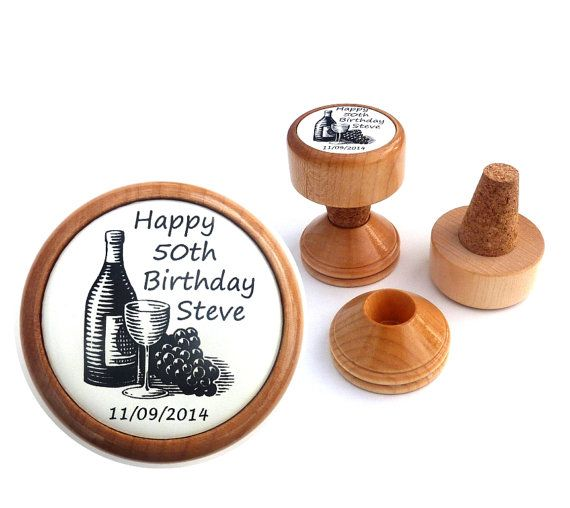 Personalized wine stopper, 21st 30th 40th 50th 60th 70th 80th Birthday gift ideas for him, birthday gift ideas for her
