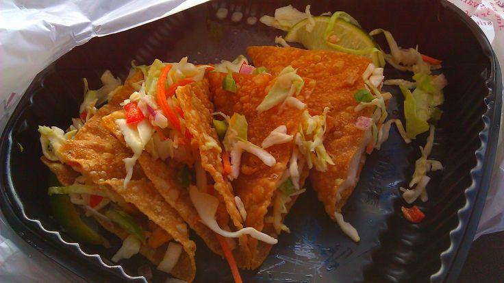 copycat applebees asian wonton tacos....add bbq sauce to chicken, not in recipe. I'd bake my wonton shells.(had these tonight. Soooo yummy!)