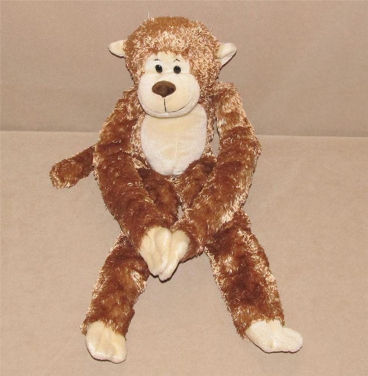 "Animal Alley Brown Tan Monkey Long Arms Legs Hanging Plush Bean Bag 24"" Toy 2000 #AnimalAlley"