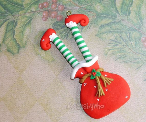 Homemade Polymer Clay Christmas Ornaments