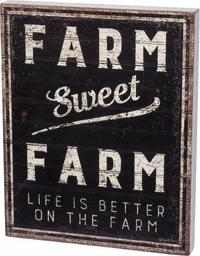 Sweet Farm Wall Sign