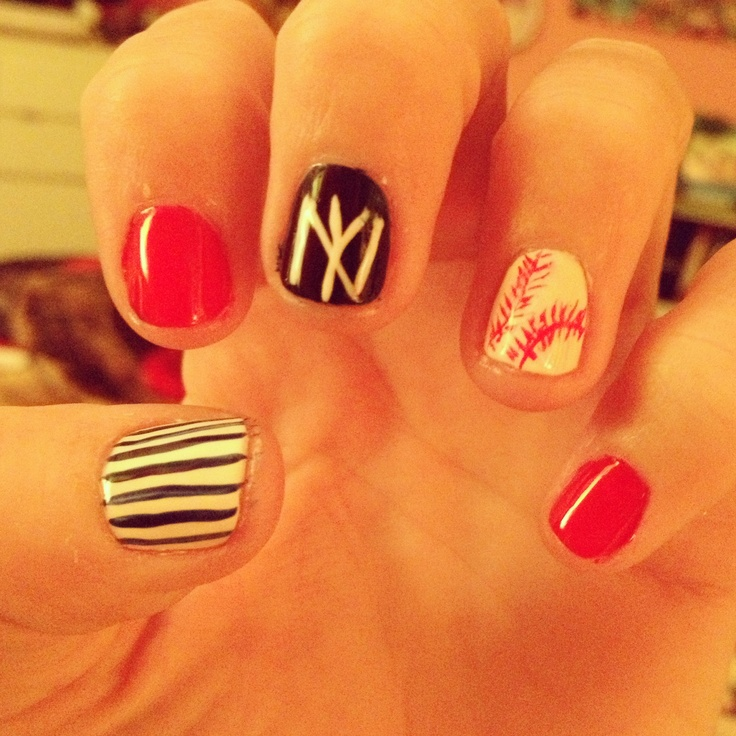 40 best Yankee nails images on Pinterest | Yankees nails, Baseball ...