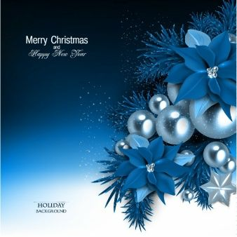 Blauer Weihnachtshintergrund