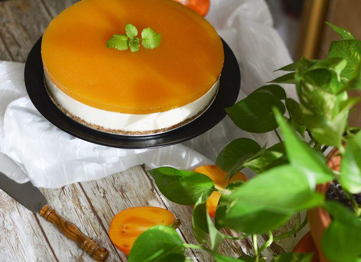 Cheesecake cu topping de kaki! O reteta delicioasa cu un ingredient surpriza. Kaki.