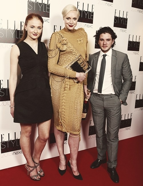 Sophie Turner, Gwendoline Christie, and Kit Harington. Kit ...