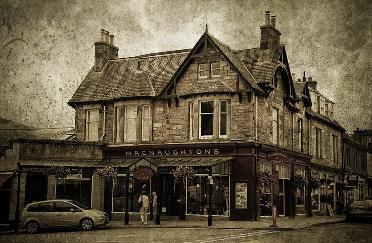 Macnaughtons Of Pitlochry. Perthshire. Sepia by Jenny Rainbow