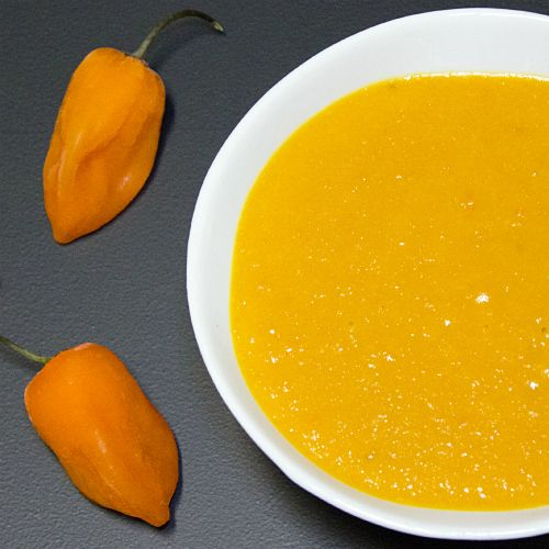 Agent Orange Habanero Mango Hot Sauce -- The mangoes provide a sweet and fruity base to the sauce, but the habanero peppers give it a serious kick. Try on burgers, hot dogs, chicken fish, even ice cream!