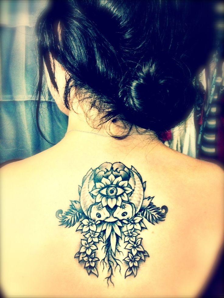 Beautiful hamsa tattoo the hamsa has a lot of meaning for Tattoo of evil eye