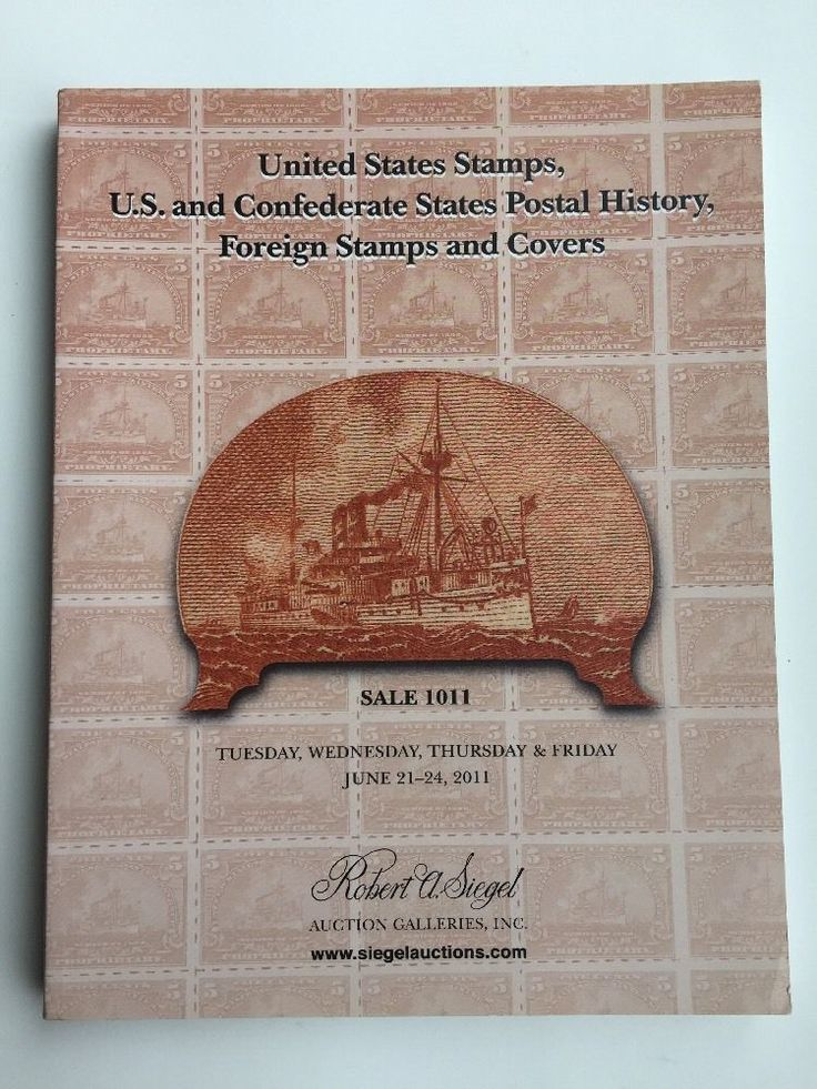 Siegel Stamp Auction Catalog Book 2011 Outstanding U S Postage Stamps Sale 1011