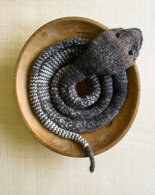 Laura's Loop: Striped Stockinette Snake by the purl bee, via Flickr  Free pattern--not something I would go for, but very interesting.  Kids might like!
