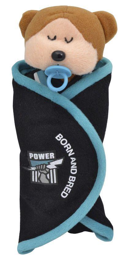Beanie Kids - AFL 2014 Port Adelaide Power Born & Bred Bear - BRAND NEW
