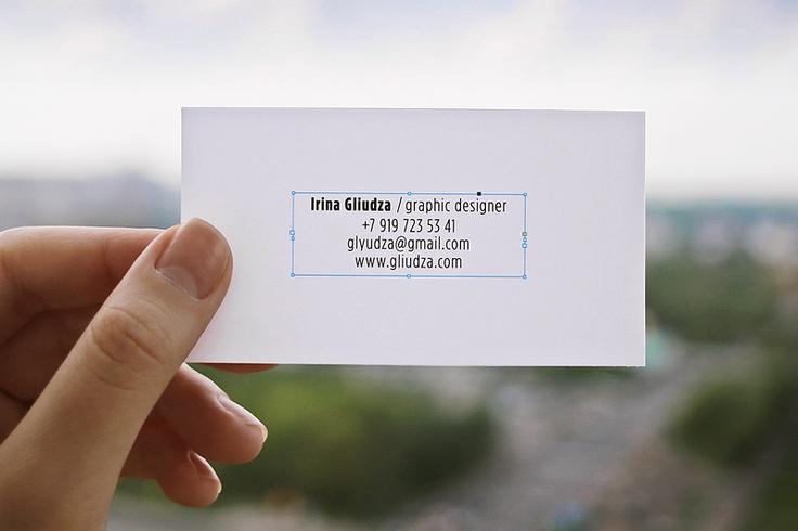 Business card / 2013 _ Irina Gliudza