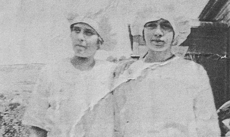 image721  Majors Creek Bakery c 1920's. Minnie Louttit (Wiggins) and Winnie Green (McDonald)