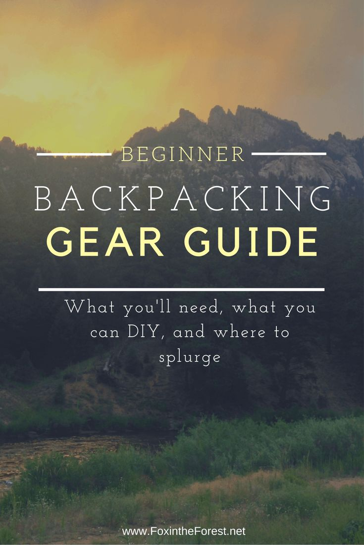 A great reference for getting started with backpacking