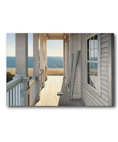 Loving this Sun Porch Wrapped Canvas on #zulily! #zulilyfinds
