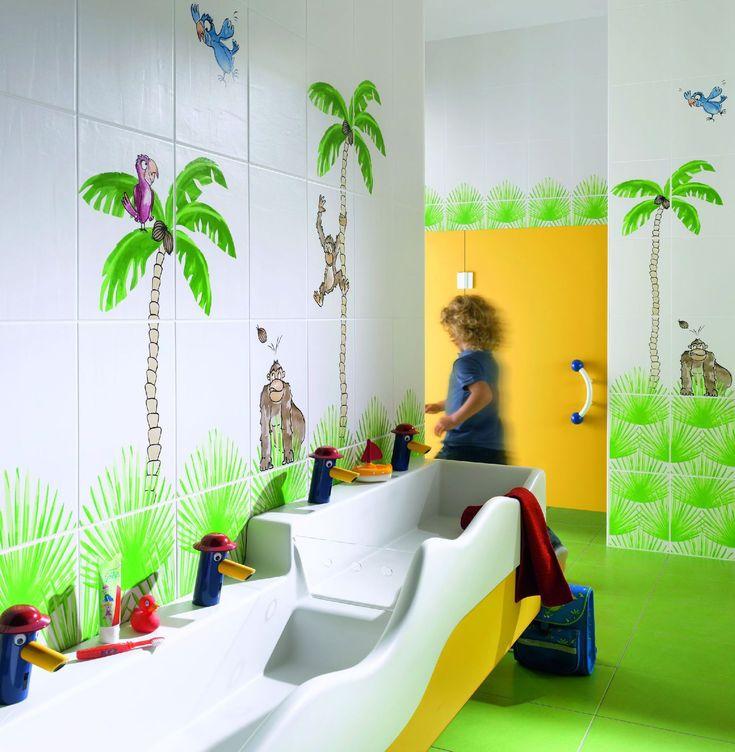 Carrelage de salle de bain / mural / en grès / motif pour enfant BONGOBONGO!  Steuler-Fliesen