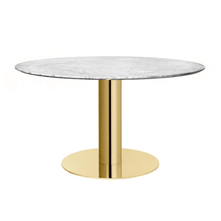 Shop SUITE NY for the GUBI Table 2.0 by GUBI Design Team and more modern round marble and brass dining tables