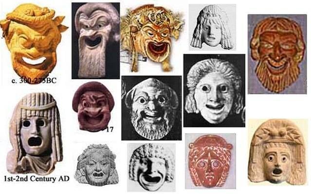 maschere teatro greco - Cerca con Google