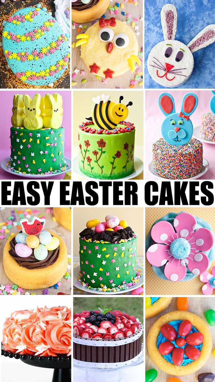 Collection Of Many Quick And Easy Easter Cake Ideas Tutorials And