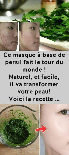 Ce masque à base de persil fait le tour du monde ! Naturel, et facile, il va transformer votre peau ! Voici la recette …