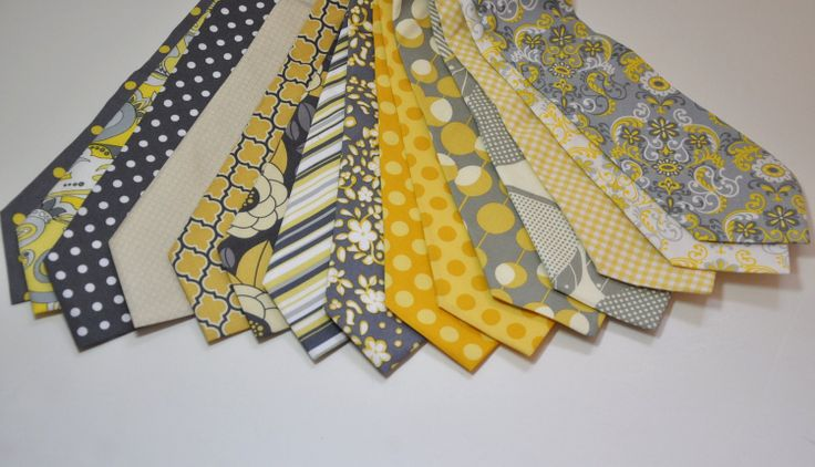 Neckties for Your Wedding Yellow and Grey by MeandMatilda on Etsy, $24.95