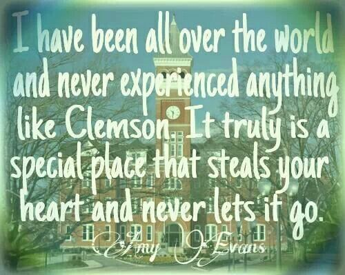 Clemson. Somehow I just couldn't leave it :)