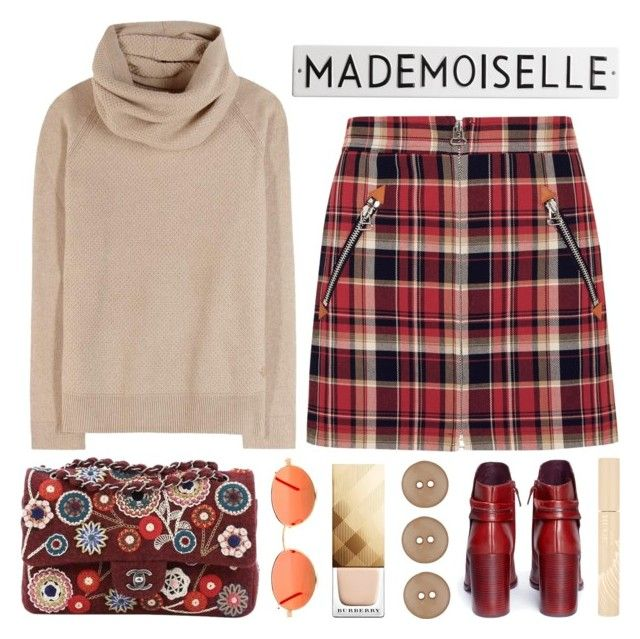 """Mademoiselle"" by its-ishani ❤ liked on Polyvore featuring Mercedes Castillo, rag & bone, Chanel, Loro Piana, Burberry, Stila and Rosanna"